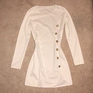 Dresses & Skirts - White Slit Bodycon Dress